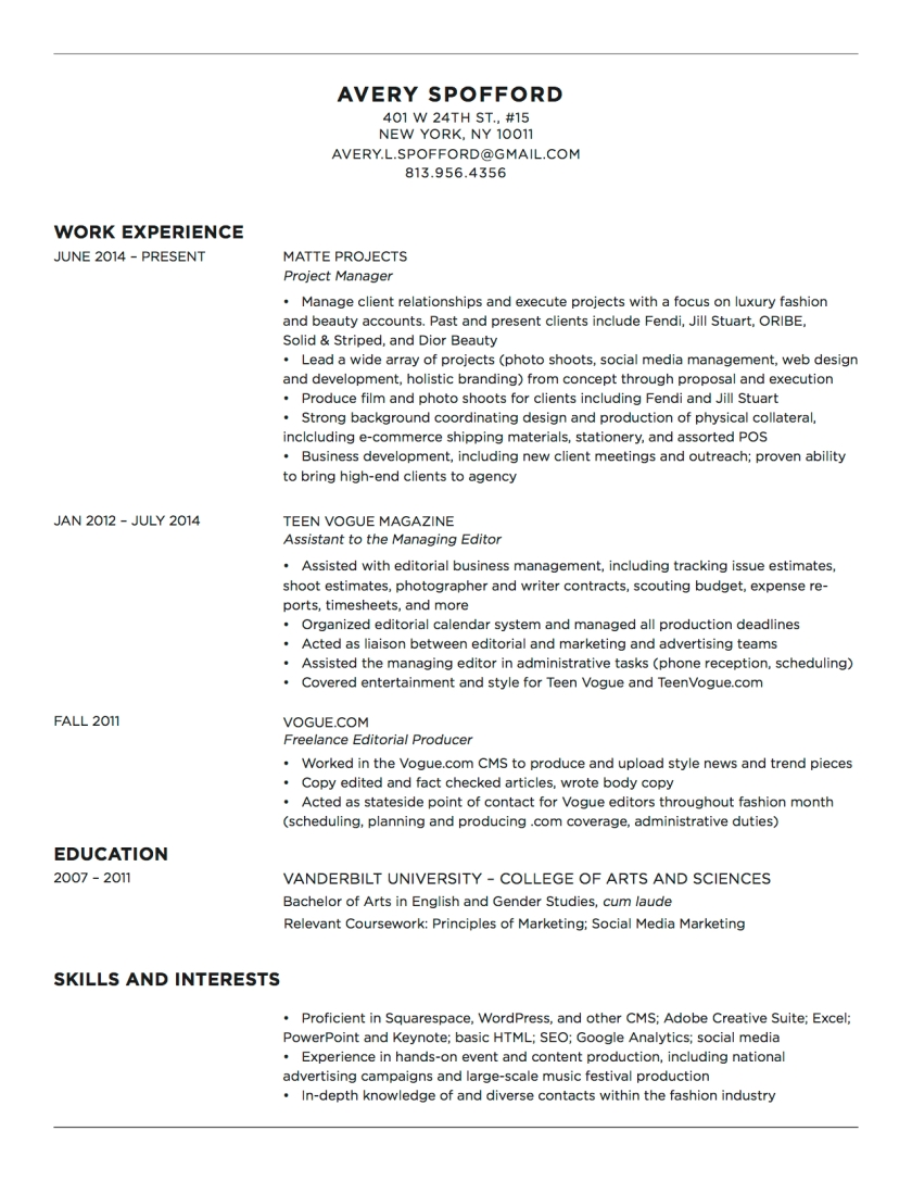 resume avery spofford avery spofford resume update 11 28 16